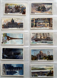 Full Set of 25 Cigarette Cards: Records of the World (1908)