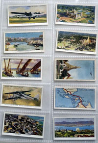 Full Set of 50 Cigarette Cards: Empire Air Routes (1936)