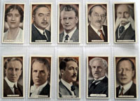 Full Set of 25 Cigarette Cards: Famous Scots  (1935)