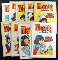 Collection of 16 Mandy & Debbie comics 1983