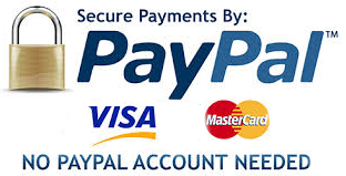 We accept Visa, Mastercard, Maestro and PayPal